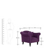 Paulina One Seater Sofa in Mulberry Colour by CasaCraft