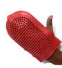 Pawzone Dog Bath Rubber Glove in Red