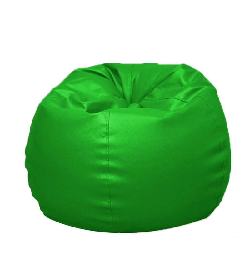 Pebbleyard Kids L Classic Green Bean Bag With Beans By