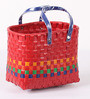 Peacock Life Small Plastic Red Basket