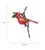 Peacock Life Multicolour Iron Cardinal Painted Bird American Robin Cardinal Key Holder