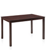 Peak Four Seater Dining Set in Cappuccino Finish by @ Home