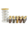 JVS Harvest Yellow 100 ML (Each) Spice Rack - Set of 16
