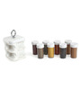 Jvs Kitchen Mate White 100 ML (Each) Spice Rack - Set of 8