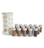 JVS Lavender Gold Majestic 100 ML (Each) Spice Rack - Set of 16