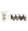 Jvs Majestic White 100 ML (Each) Spice Rack - Set of 8