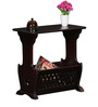 Grafton Table Cum Magazine Rack in Passion Mahogany Finish by Amberville
