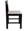 Peter Set of Four Chairs in Wenge Finish with Beige Cushion by Forzza