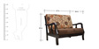 Phoenix Solidwood Two Seater Sofa in Brown Colour by HomeTown