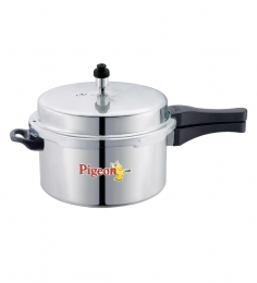 Pigeon Aluminium Pressure Cooker Induction Base - 5 Ltr - Calida