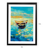 Pickypomp Paper 8 x 12 Inch Boats in the Water Framed Wall  Digital Art Print