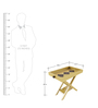 Pine Wood Folding Tray cum End Table  by SmalShop