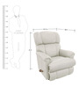Pinnacle Leather Recliner in White Colour by La-Z-Boy