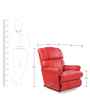 Pinnacle One Seater Recliner in Red Leather by La-Z-Boy