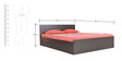 Platina Queen Bed with Top Storage in Wenge Colour by Crystal Furnitech