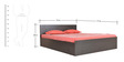 Platina Wenge King bed with Top Storage in Wenge Colour by Crystal Furnitech