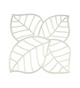 Planet Decor White Acrylic Stylish Leaf Design Room Divider