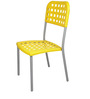 Plastic Chair in Yellow Colour by Ventura
