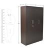Platina Three Door Wardrobe in Wenge Colour by Crystal Furnitech