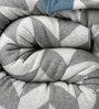 Pluchi Garroway Natural Knitted Queen-Size Throw Blanket in Grey & Vanilla Colour