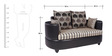 Polar Two Seater Sofa in Black Colour by ARRA
