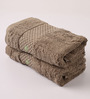 Portico New York Brown Cotton 16 x 24 Inch Therapeia Fresh Hand Towel - Set of 2