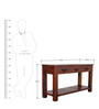 Prescott Solid Wood Console Table in Honey Oak Finish by Woodsworth