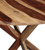 Burgdorf Four Seater Dining Table in Natural Sheesham Wood Finish by Woodsworth