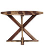 Burgdorf Four Seater Solid Wood Dining Table in Natural Sheesham Finish by Woodsworth