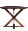 Burgdorf Four Seater Solid Wood Dining Table in Provincial Teak Finish by Woodsworth