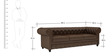 Princeton Three Seater Sofa in Chester Brown Colour by ARRA