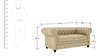 Princeton Two Seater Sofa in Beige Colour by ARRA