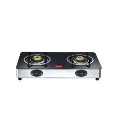 Prestige GT02 SS 2 Burner Glass Cooktop