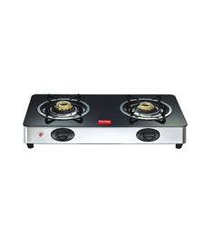 Prestige GT02 SS Auto Ignition 2 Burner Glass Cooktop