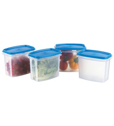 Prime Houseware Food Storage Containers Set Of 4 - Blue