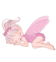 Print Mantras Beautiful Sleeping Fairy Angel Wall Sticker