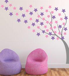 Print Mantras Beautiful Windy Blossom Tree Wall Sticker