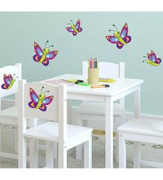 Print Mantras PVC Wall Stickers Beautiful Birds On Tree - 1588227