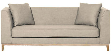Preston Three Seater Sofa In Beige Colour By Madesos