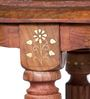Pranidha Stool with Brass Inlay Work by Mudramark