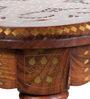 Pranidha Stool with Brass inlay Work by Mudramark