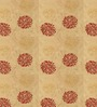 Presto Red & Gold Floral Window Curtain - Set of 2
