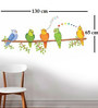 Print Mantras PVC Wall Stickers Beautiful Parrots on Tree Branches
