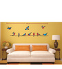 Print Mantras Wall Stickers Beautiful Colorful Birds on a Tree Branch