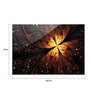 Prism Glass Brown Laminated Glass & MDF Modern Art Wall Hanging