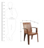 Prominent High Back Chair Set of Two in Sbrown colour by Cello