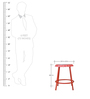 Proud To Be Your 'Bud' Red Color Bar Stool by Desi Jugaad