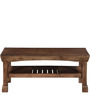 Morton Slatted Shelf Coffee Table in Provincial Teak Finish by Woodsworth
