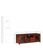 Peshtigo Entertainment Unit with Four Drawers in Honey Oak Finish by Woodsworth