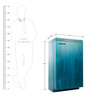 Purush Bar Cabinet in Turquoise Colour by Furnicheer
